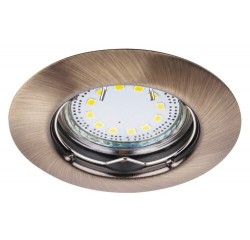 Lite circle spot fix GU10 LED3x3W bronze