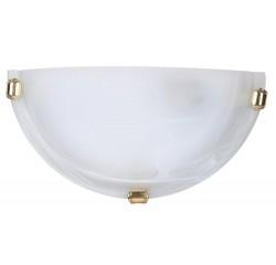 Alabastro wall lamp E27 60W white/gold