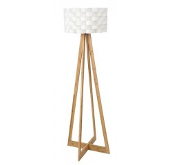 Andy floor,E27 1x60W,white,bamboo