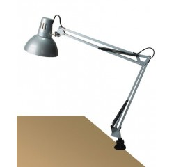 Arno table E27 60W,silver,metal vise