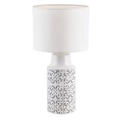 Agnes ceramic desk E27 1x40W,white/grey