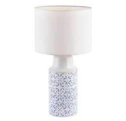 Agnes ceramic desk E27 1x40W,white/blue