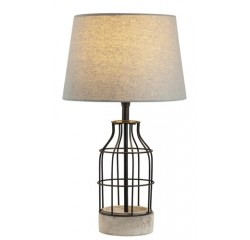 Ava metal lamp E27 40W grey/black