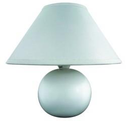 Ariel ceramic table lamp E14 40W, white