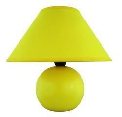Ariel ceramic table lamp E14 40W, yellow