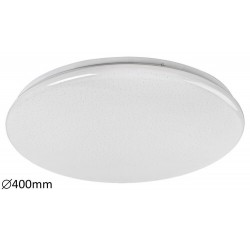 Danny, ceiling lamp, white, whitebuilt in LED 36W 3000lm 3000-6500K, CCT, dimmable, with remote controller, with timing function, starry effect D400mm