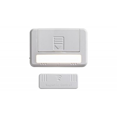 Magnus, drawer and cabinet light, with magnet, white,built in LED 0,5W 3000K, 2pcs/set