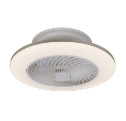 Dalfon fan light, ceiling LED 36W CCT, dimmable, with remote, timer function