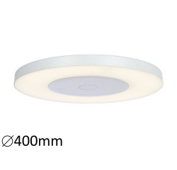 Milton ceiling, white,LED 24W 2000lm, 4000k, with remote controller dimmable