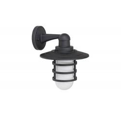 Darrington, outdoor wall lamp, black, E27 1X MAX 20W IP44 bulbexcl.