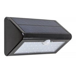 Ostrava, outdoor solar lamp, black, built-in LED 4W 340lm IP65 with sensor