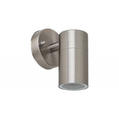 Zagreb, outdoor wall lamp, stainless steel, GU10 1X MAX 12W, IP44, bulb Excl.