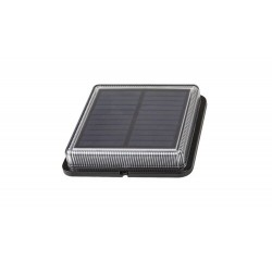 Bilbao,outdoor solar lamp, black, built-in LED 1,5W 4000K, IP67, 110x110mm