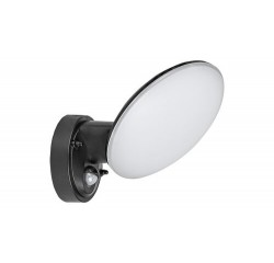 Varna, outdoor wall lamp, black, built-in  LED 12W 720lm 4000K IP54, with sensor