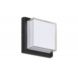 Andorra, outdoor wall lamp, black/white, built-in LED 12W 650lm 4000K, IP54