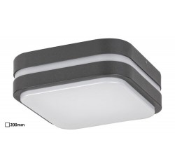 Hamburg, outdoor wall lamp, antrachite/white, built-in LED 10W 680lm 4000K, IP44 200x200mm