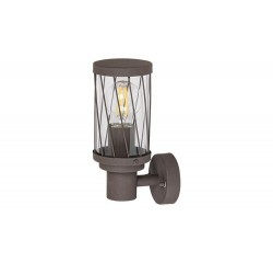 Budapest, outdoor wall lamp, brown, E27 1X MAX 40W, IP44 bulb excl.